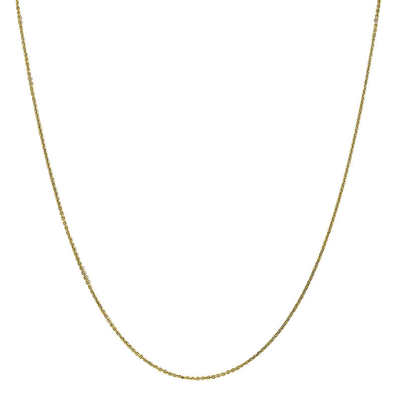 10k Gold Solid Cable Chain Necklace 10k Gold Chain 10k Gold Chain Necklace