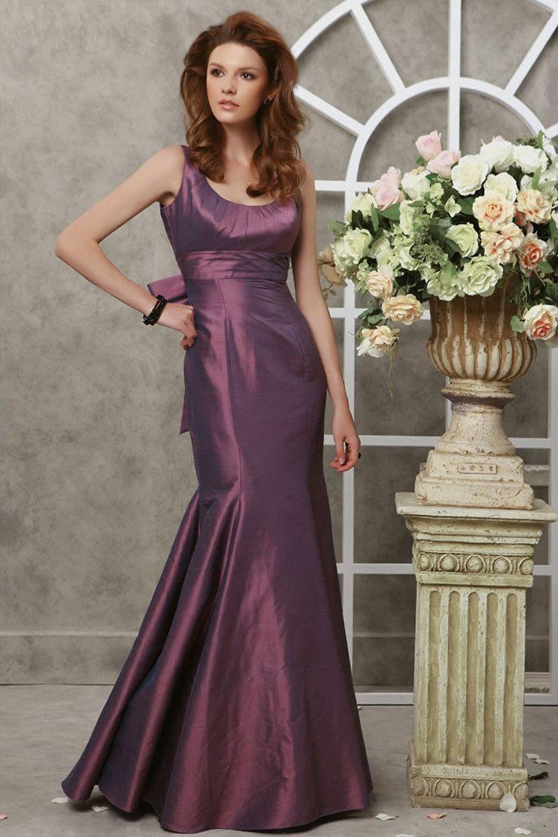 Mermaid Floor-Length Jewel Grape Taffeta Evening Dress | Stylin <3 ...