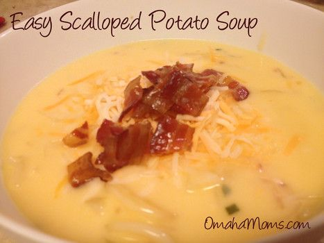Easy Flavorful Potato Soup From A Box Of Scalloped Potatoes Can Be Put In