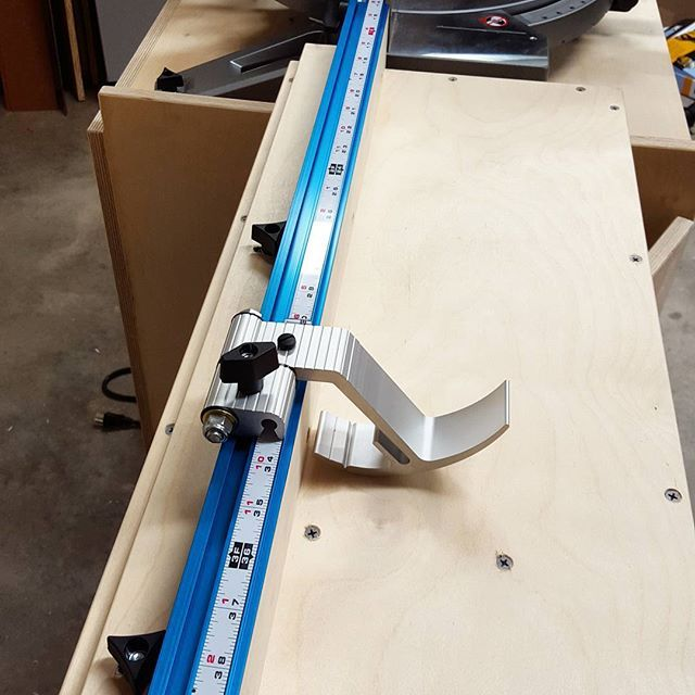 Fence And Stop System For The Mobile Miter Saw Station Are In The