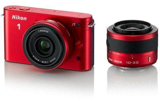 #Nikon Store - Nikon 1 J1 #Red Kit 10-30mm VR 10mm #Camera 1 #Nikkor Lenses