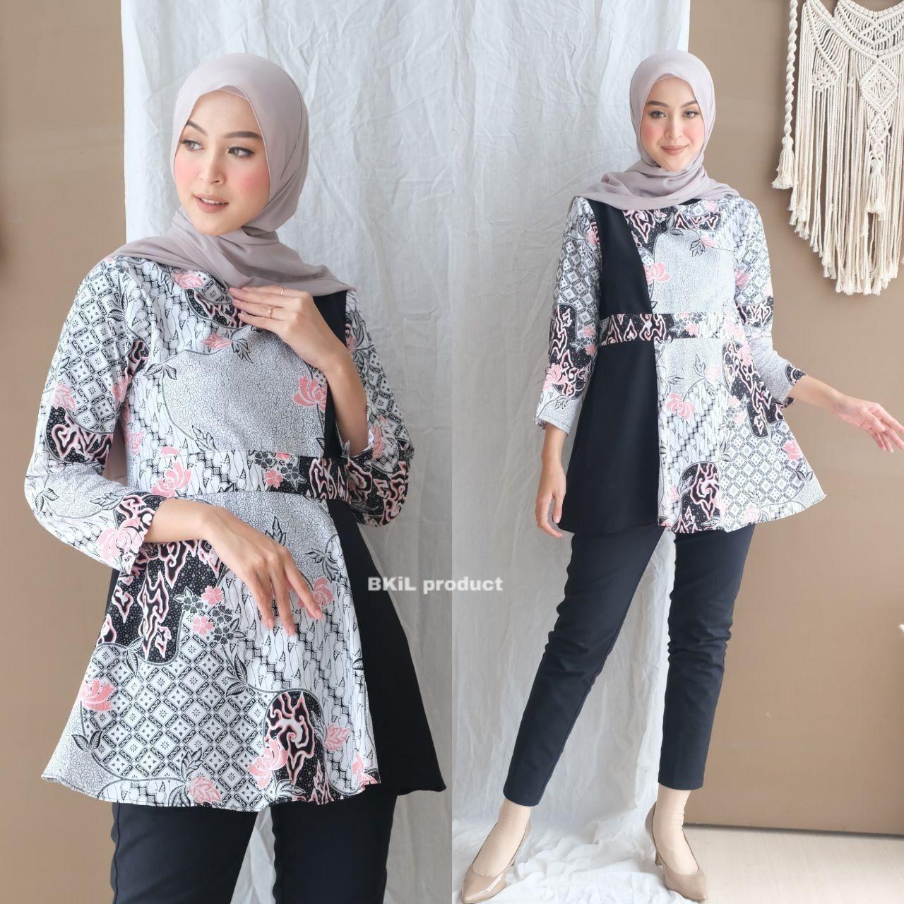 Blus Batik di 12  Blus, Desain