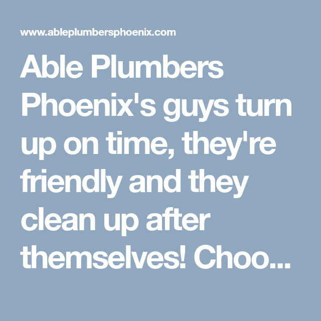 sons plumbing phoenix