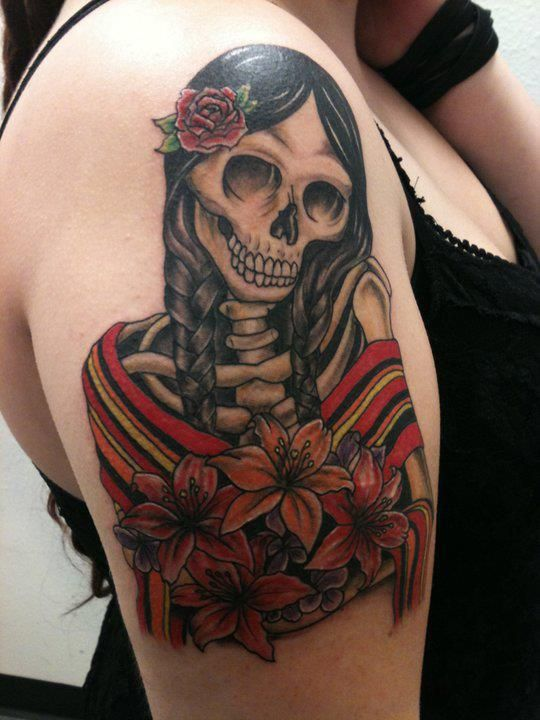 I got this tattoo to celebrate my mexican heritage by for Mexican heritage tattoos