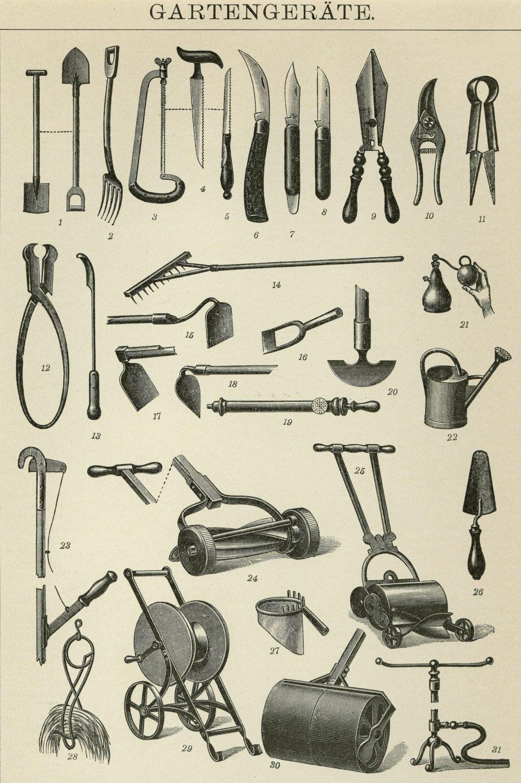 vintage garden hand tools. shop the elegant gardener - antique garden tools flyer created by botanicalgardens. vintage hand o