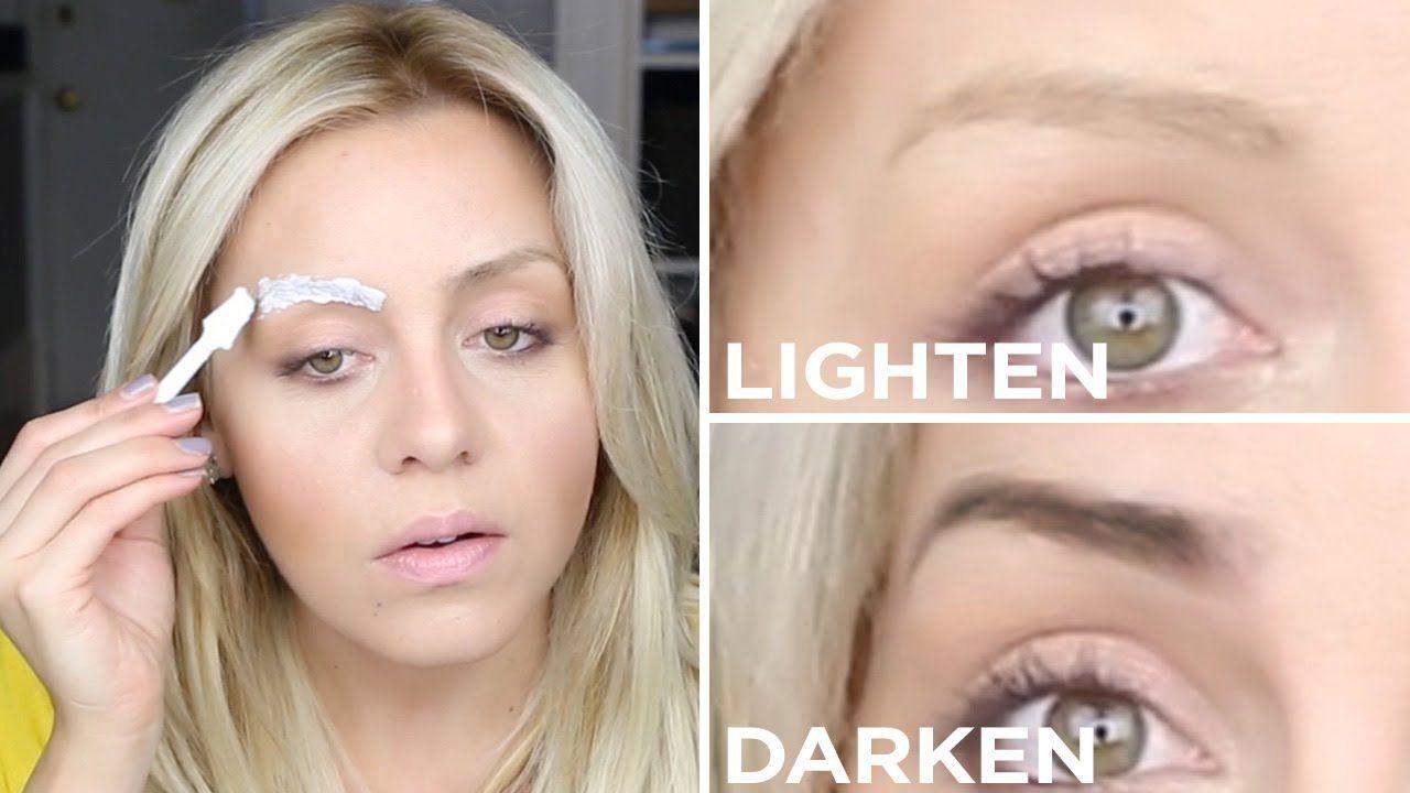 Diy How To Lighten Or Darken Your Eyebrows The Salon Method Darken Eyebrows Bleached Eyebrows Lighten Eyebrows