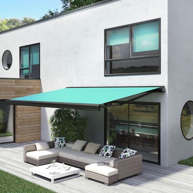 une bonne protection solaire ext rieure store banne allure par franciaflex en terrasse. Black Bedroom Furniture Sets. Home Design Ideas