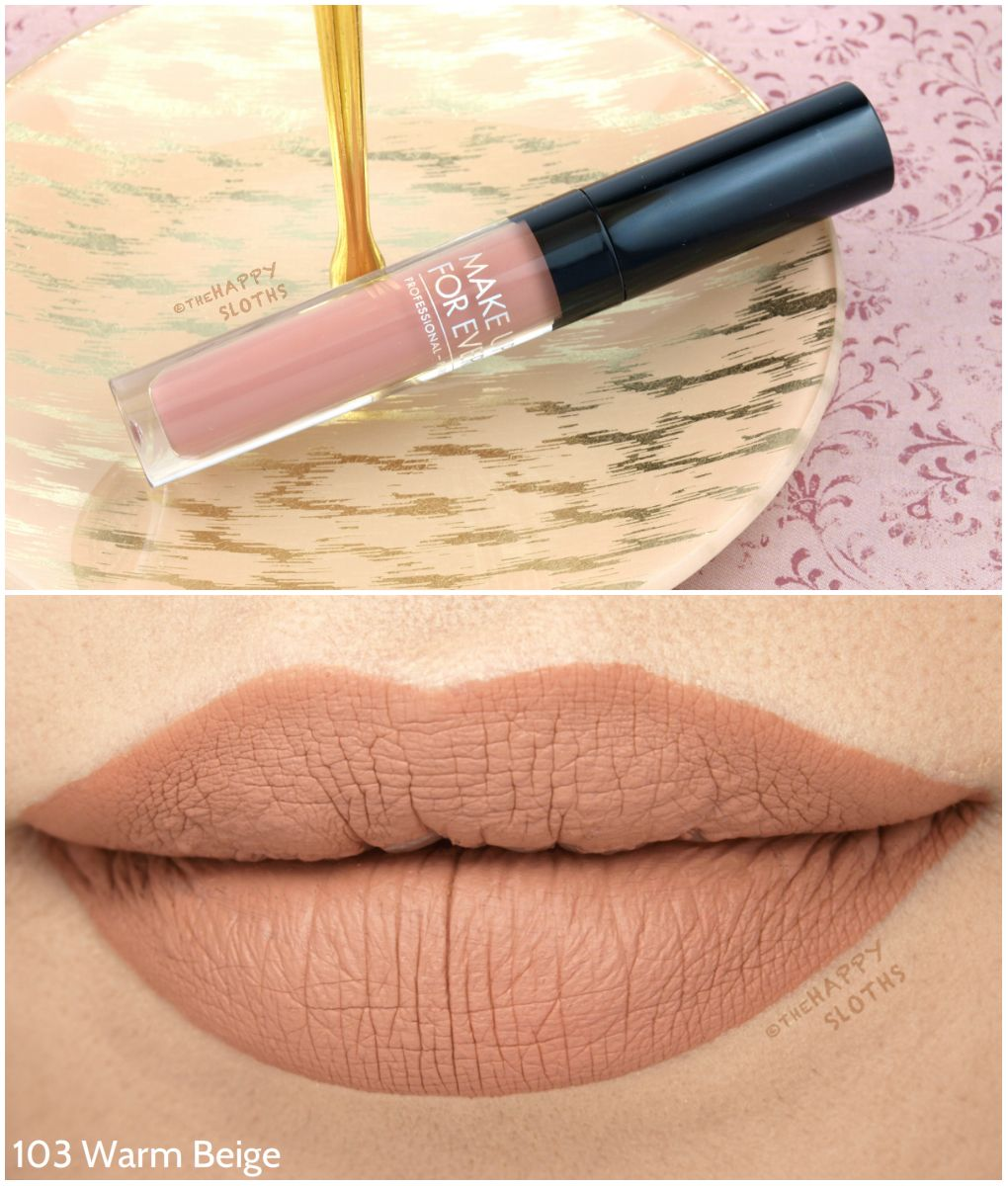 Make Up For Ever Artist Liquid Matte Lipstick Review and