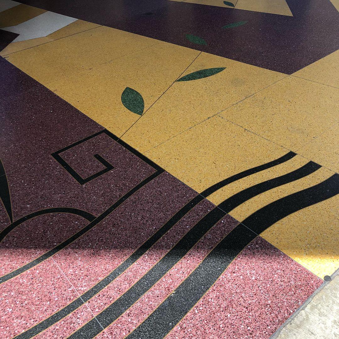 Terrazzo Flooring Design In Theater Terrazzo Terrazzo
