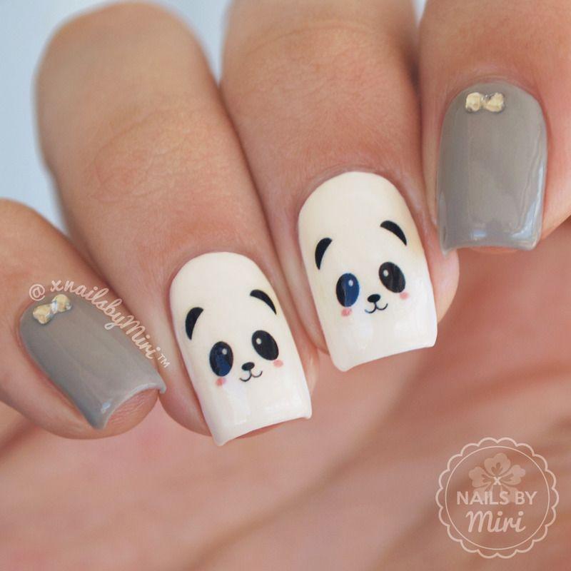 Nailpolis Museum Of Nail Art Cute Panda Nails By Xnailsbymiri