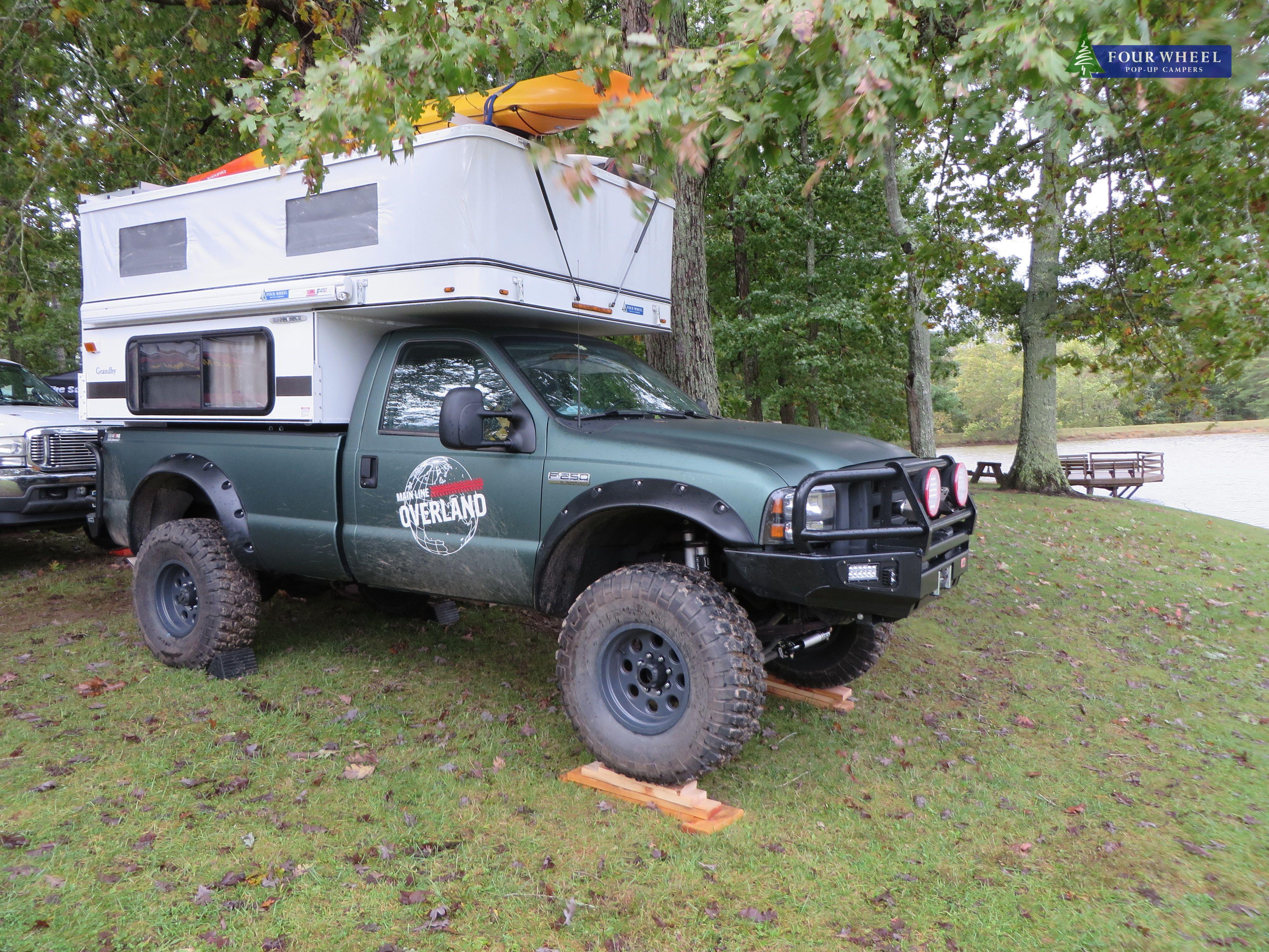 Truck Camper With A Slide In Four Wheel Camper Overland