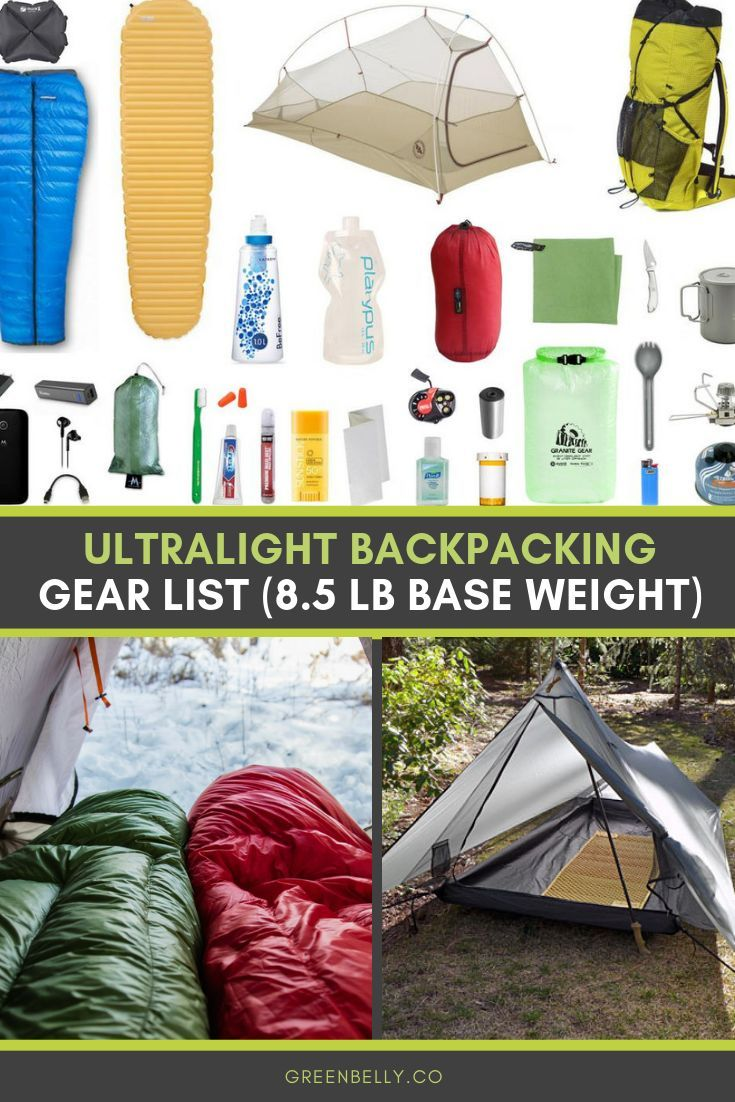 Photo of 8,5 lb Ultralight Backpacking Gear List für Thru-Hiking