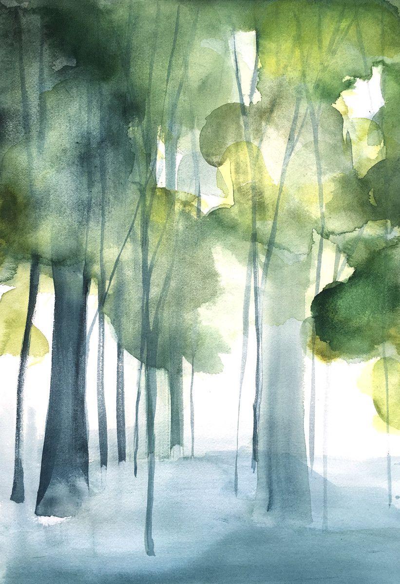 Grove II | Pinterest | Aquarell, Alkohol und Bilder malen