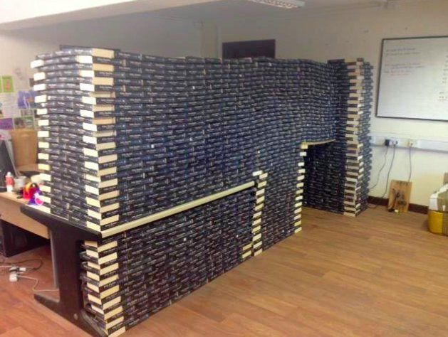 "The QI Elves on Twitter: ""One Oxfam shop has received so many donations of 50 Shades of Grey that they've managed to build a fort https://t.co/lFtZ7Ow3aK"""