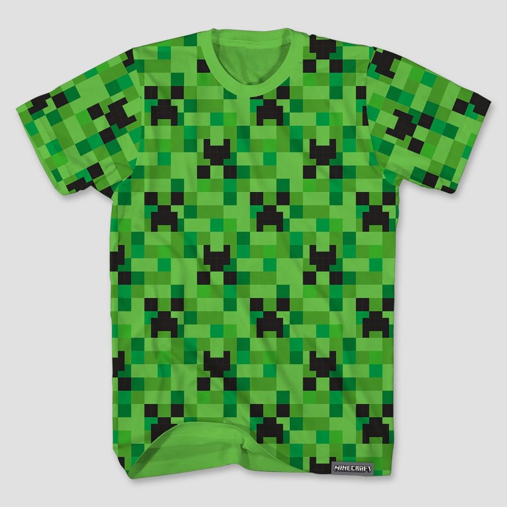 Minecraft Creeper Inside Boy/'s Black T-Shirt Official kids short sleeve tee