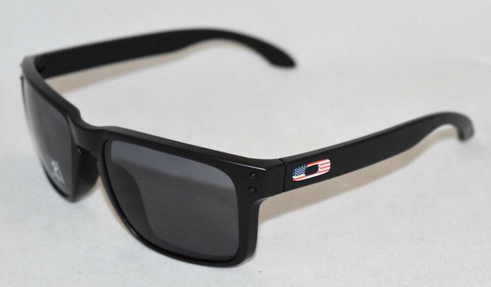 1f70ee5e5f5 eBay  Sponsored NEW OAKLEY HOLBROOK SI OO9102-E655 MATTE BLACK USA FLAG W