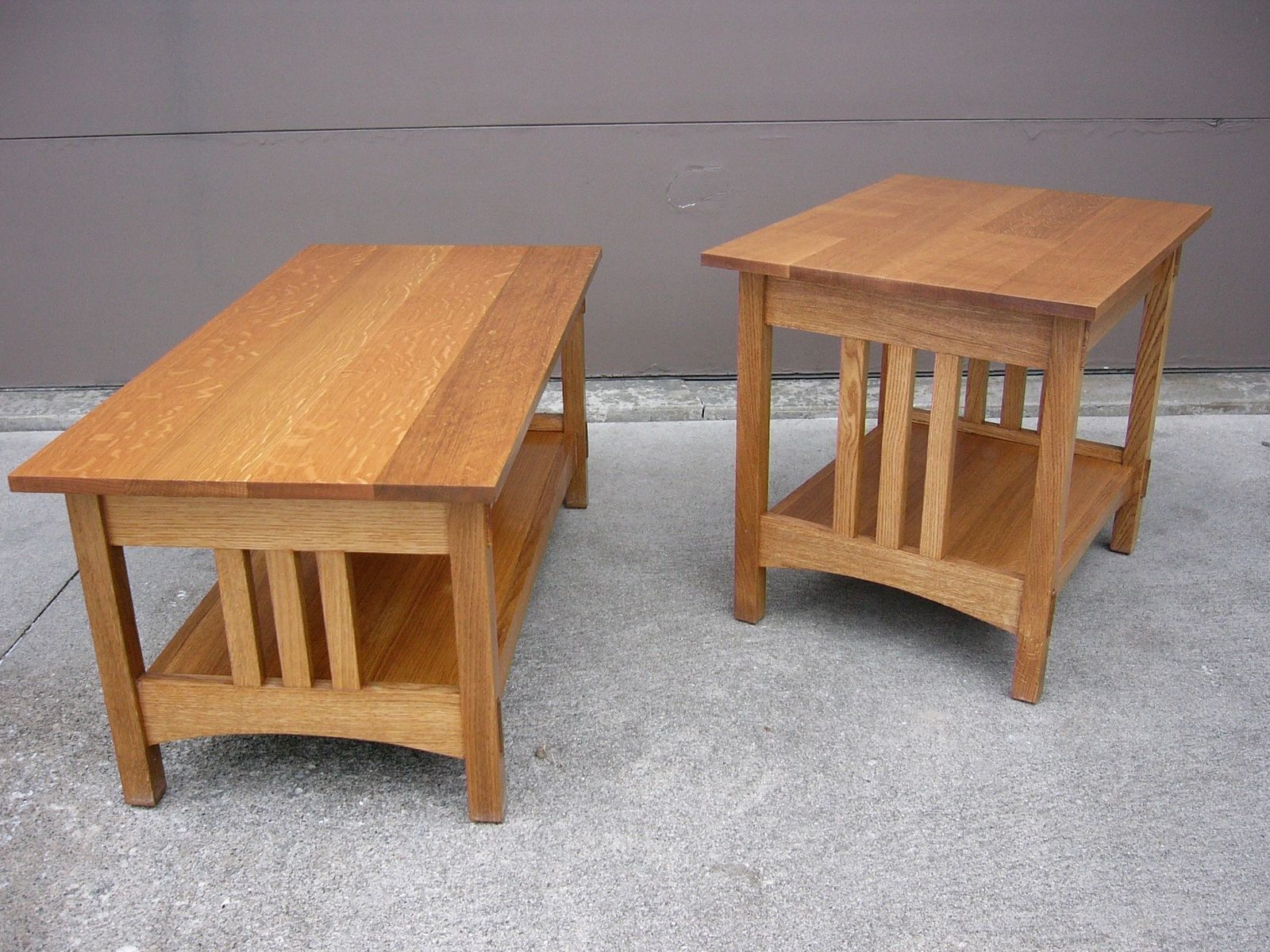 Best Quartersawn Oak Mission Style Coffee Table And End Table 640 x 480