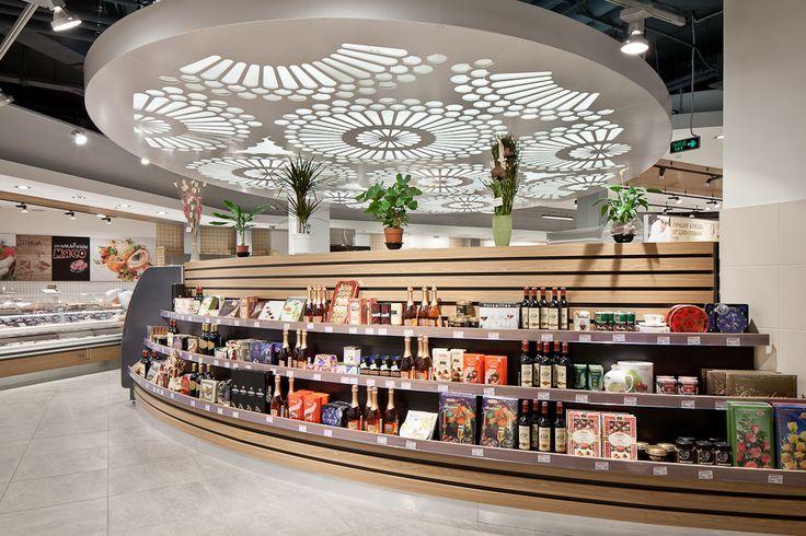 Ceiling Detail Supermarket design, Shop design, Retail