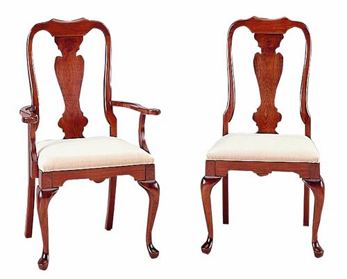 Cherry Queen Anne Dining Chairs By Colonial Furniture 570