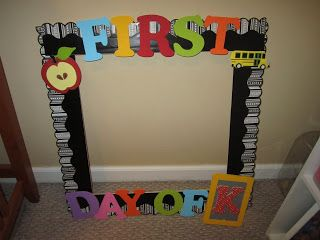 Such A Cute First Day Photo Frame They Used Ctps Doodles Dots