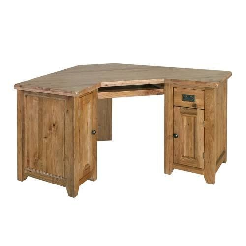 Reclaimed Oak Corner Computer Desk
