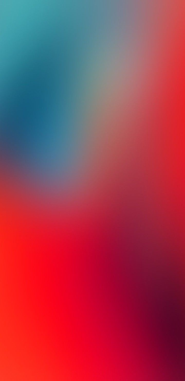 iOS 11, iPhone X, red, blue, clean, simple, abstract