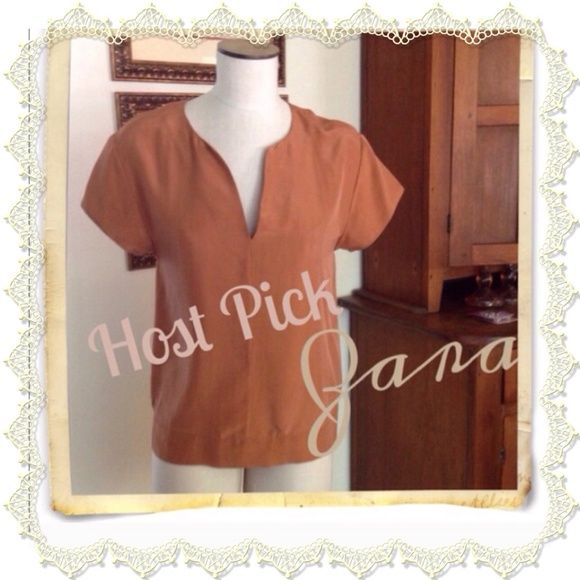 HOST PICKESSENTIAL STYLE PARTY 8/20/14 ZARA 100% silk top Zara Tops