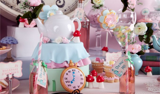 alice in wonderland themed baby 1st bday party - Google Search