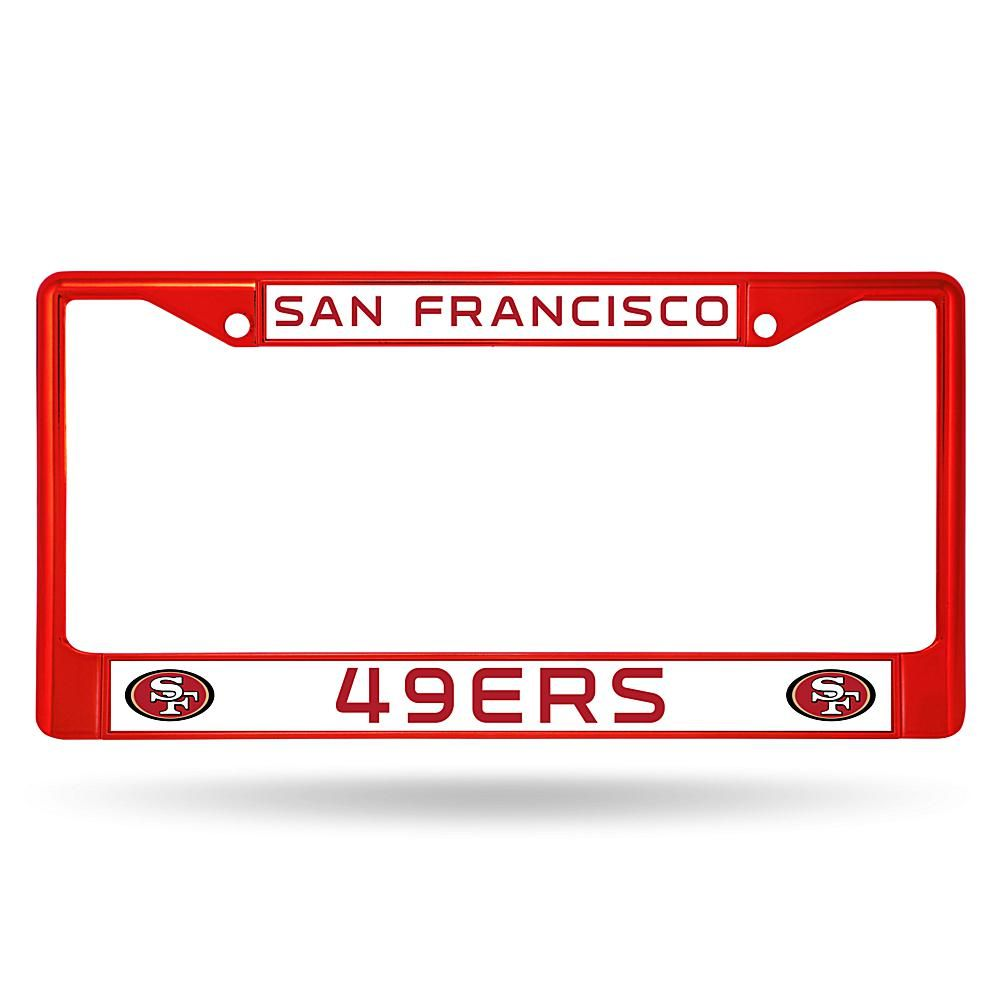 Officially Licensed NFL Red Chrome License Plate Frame - 49ers ...