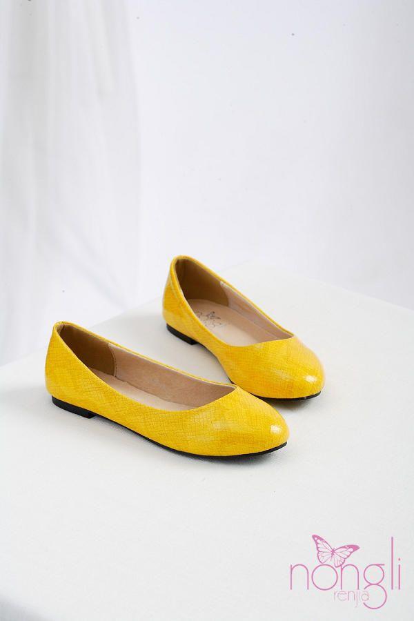 bright yellow flats