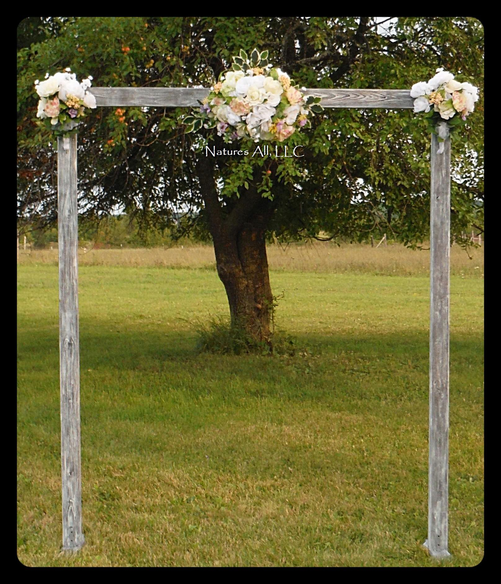 Country Wedding Altar Ideas: DIY Wedding Arch/Country Wedding Decor/Rustic Wedding Arch