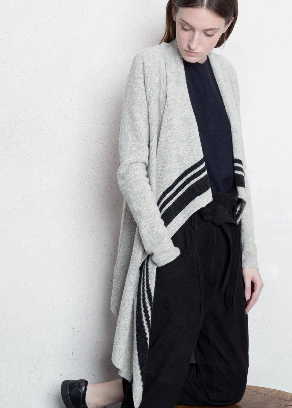 c56fd4da2a9 Premium - cardigan cascade laine - Femme
