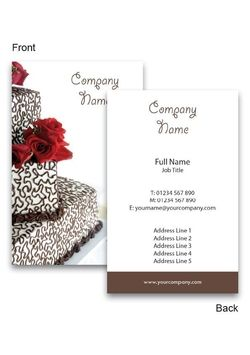 Wedding cake business cards collections pinterest business cards wedding cake business cards reheart Choice Image