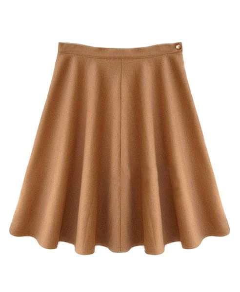 Skater Skirt With Concealed Zip