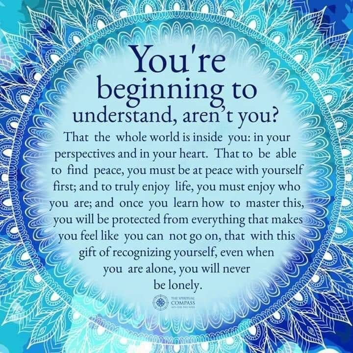 beginning to understand…