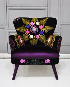 Patchwork Armchair With Suzani And Velvet Fabrics. Love The Design.  ArtUrbane.com.