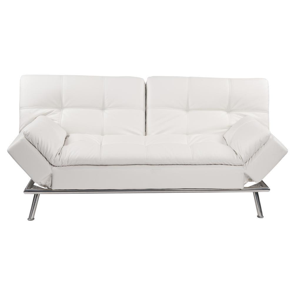 Canape Clic Clac Capitonne 3 Places Blanc Denver Sofa Sofa Bed