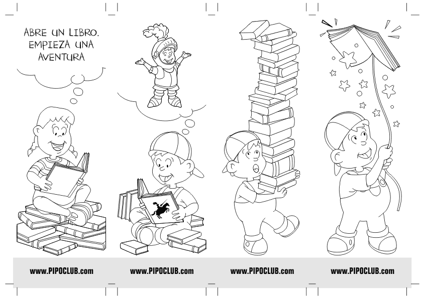 Punto de lectura de Pipo #colorear #actividades #Pipo #libros #leer ...