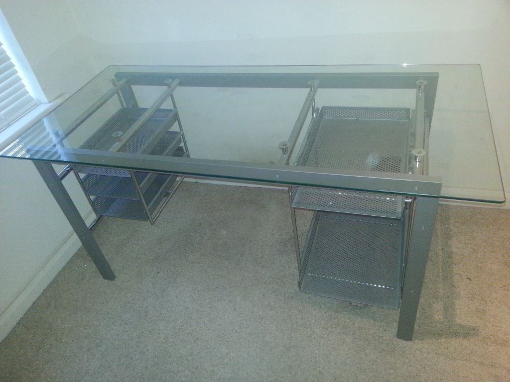 large glass office desk. large glass top desk - design ideas check more at http://www office s