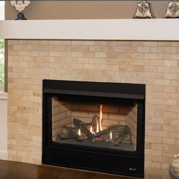 Superior 33 Inch Direct Vent Traditional Gas Fireplace Drt2033
