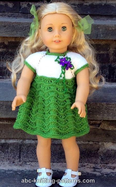 ABC Knitting Patterns - American Girl Doll Ocean Waves Summer Dress ...