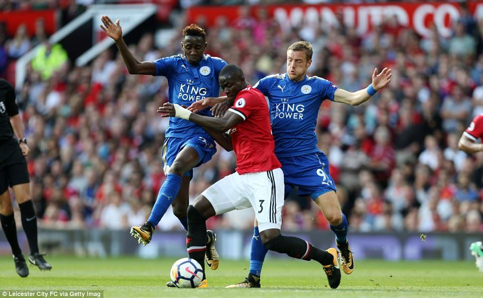 Leicester Midfielder Wilfred Ndidi And Striker Jamie Vardy