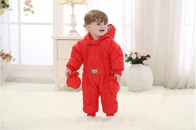 9dfc634cd Baby Coverall clothing thick warm fall and winter clothes newborn ...