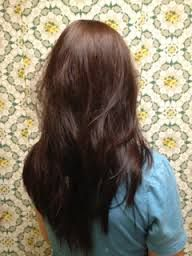 v cut hair with layers - Google Search