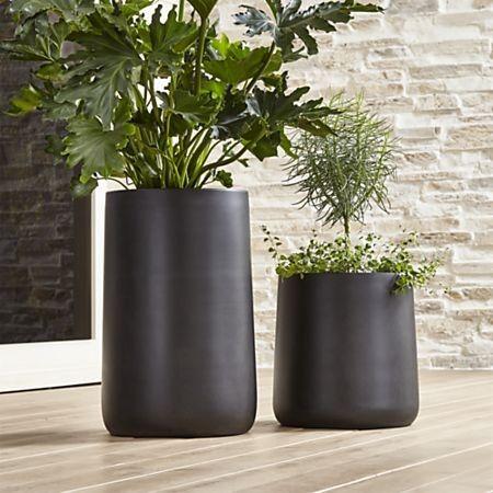 Saabira Fiberstone Planters From Crate Barrel Outdoor 640 x 480