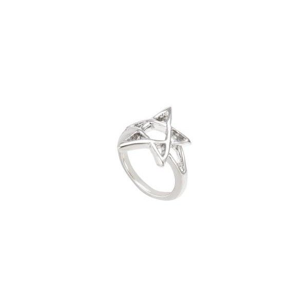 Pentagram Ring ($8.26) ❤ liked on Polyvore featuring jewelry, rings, yoins, pentagram jewelry, pentagram ring, charm rings and charm jewelry