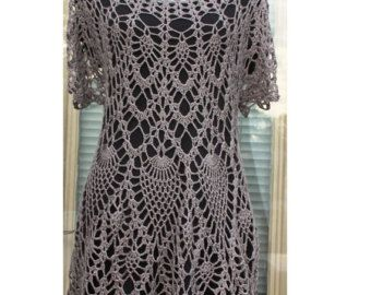 Lace Layer Tunic / Dress/ Top / Cover Up  / Crochet Cotton Made to Order