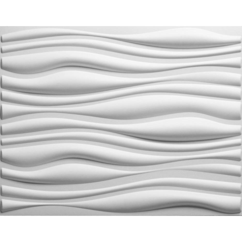 Threedwall 32 4 In X 21 6 In X 1 In Off White Plant Fiber Glue On Wainscot Wall Panel 6 Pack Ekb 02 102 Wainscoting Wall Paneling Textured Wall Panels Wainscoting Wall