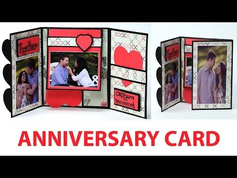 Handmade Anniversary Card How To Make Anniversary Greeting Card Youtube Anniversary Cards For Boyfriend Cards For Boyfriend Anniversary Cards