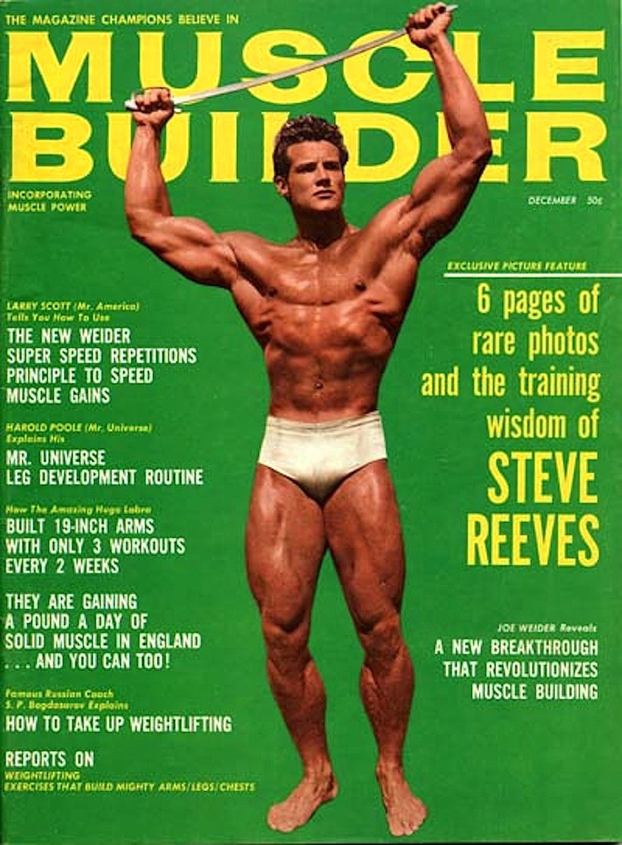 Tremendous Steve Reeves Muscle Builder Cover Bodybuilder Actor Machost Co Dining Chair Design Ideas Machostcouk